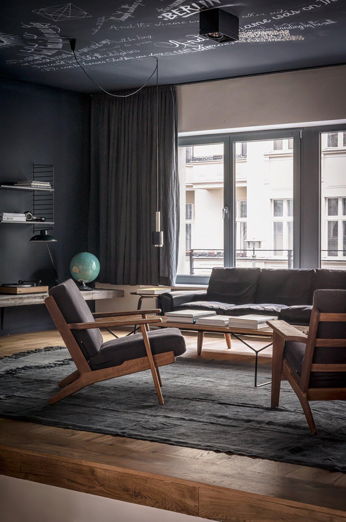 beautiful dark themed homes danish furniture modern interior architecture color also home pinterest design rh