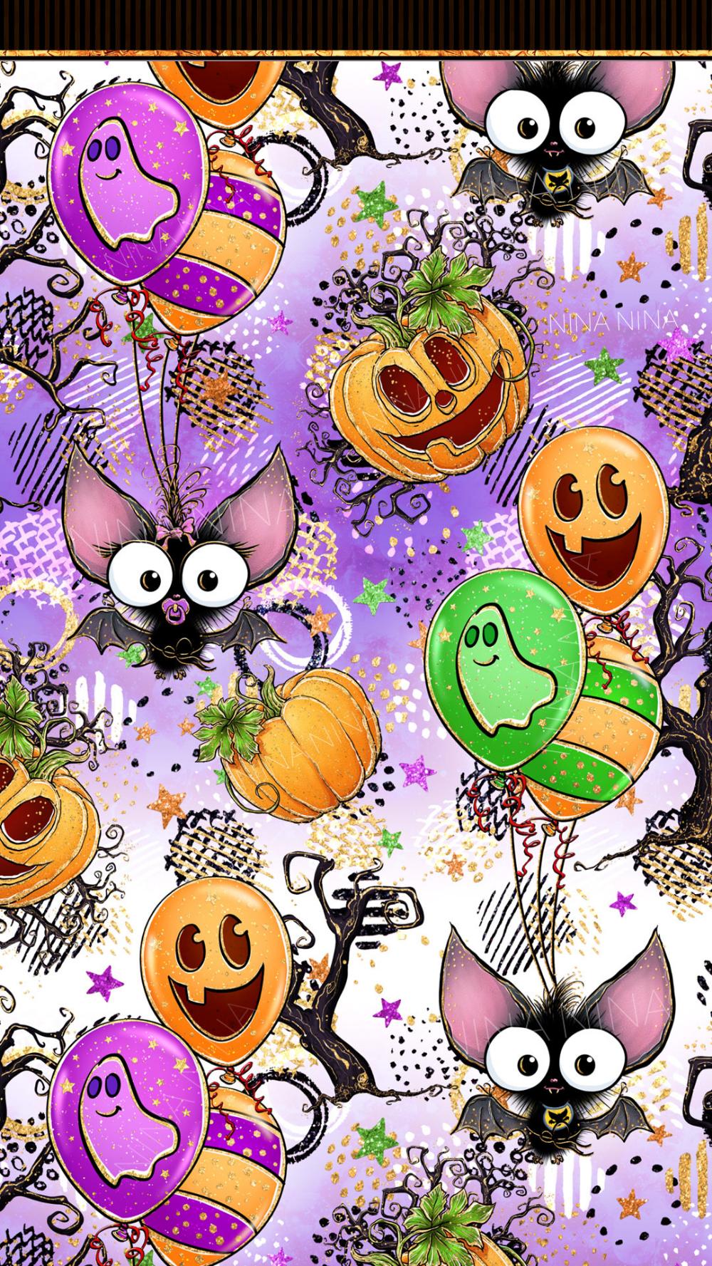Halloween 2020 Art Pack Cute Halloween Digital Papers Pack Bats Seamless Patterns | Etsy