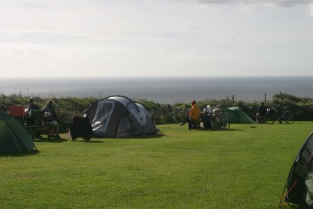 Treen Farm C&site Best view and only a short walk over the field to stunning white & Treen Farm Campsite Best view and only a short walk over the field ...