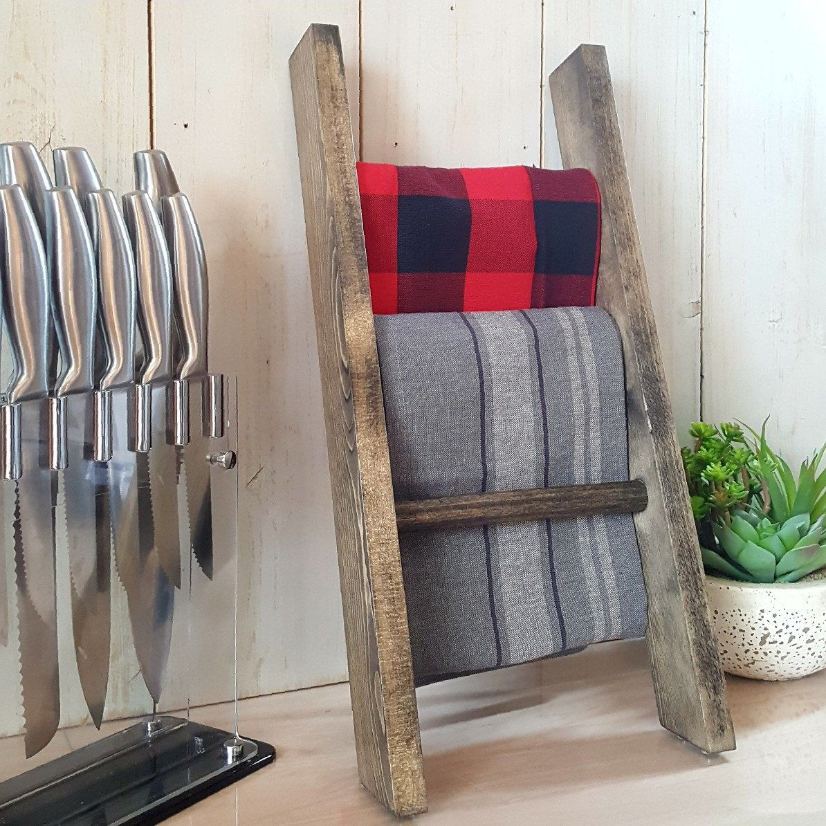 Kitchen Decor Ladder We Are In Love With Our New Towel Ladders Available In 3