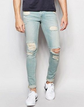 331d024baff ASOS Extreme Super Skinny Jeans With Rips | JEAN SAUCE | Denim jeans ...