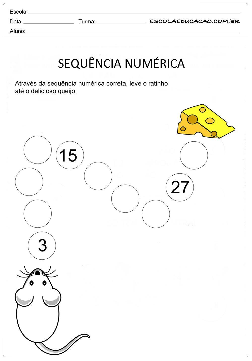 Atividade Sequencia Numerica Sequencia De 3 Em 3 Atividades De