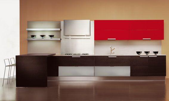 cocina roja kitchen mu Pinterest Cocina roja, Rojo y Cocinas