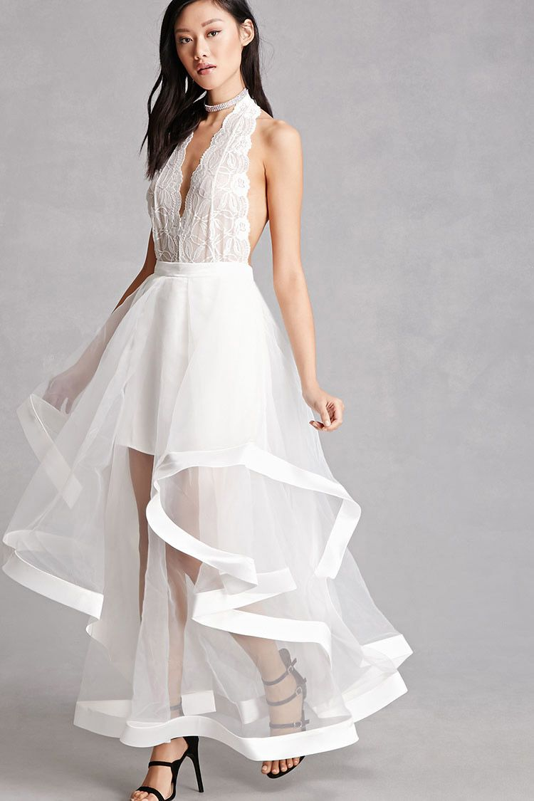 93187a235b3 Sheer Flounce Maxi Skirt