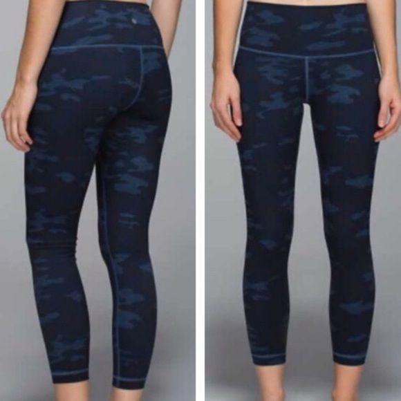 Lululemon Camo Blue Camo Leggings Are Not Pants Camo Leggings