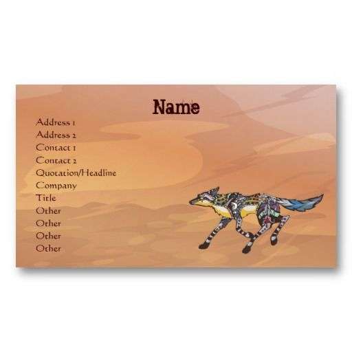 Coyote the trickster business cards native american business cards coyote the trickster business cards colourmoves