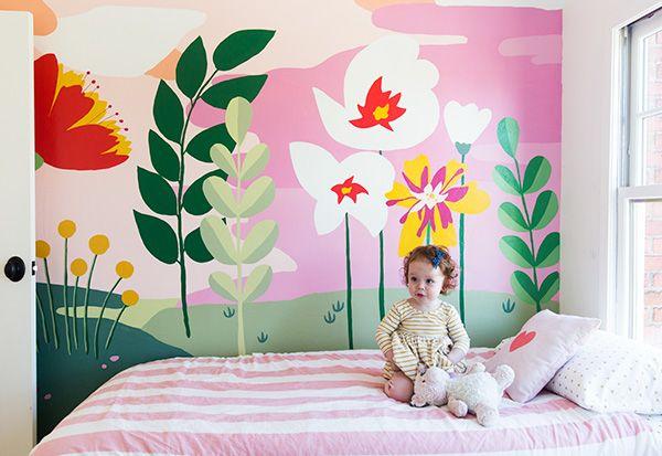 A Hand Painted Wall Mural Wall Murals Diy Kids Wall Murals
