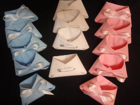 Baby shower favors napkin diapers 20 pcs it's a by adrianacoll1 YAY!!!!! 2 HOURS LATER, we finally found what we were looking for! This is what we want to do for the napkins on table.