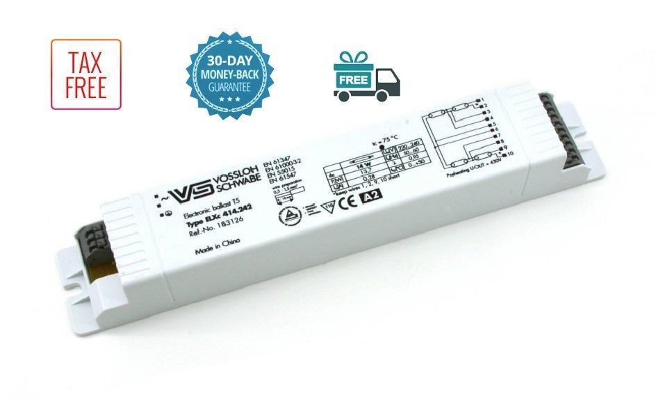Vossloh Schwabe Elxc 414 242 4x14w T5 Electronic Ballast Fluorescent Lamps Elxc Vs