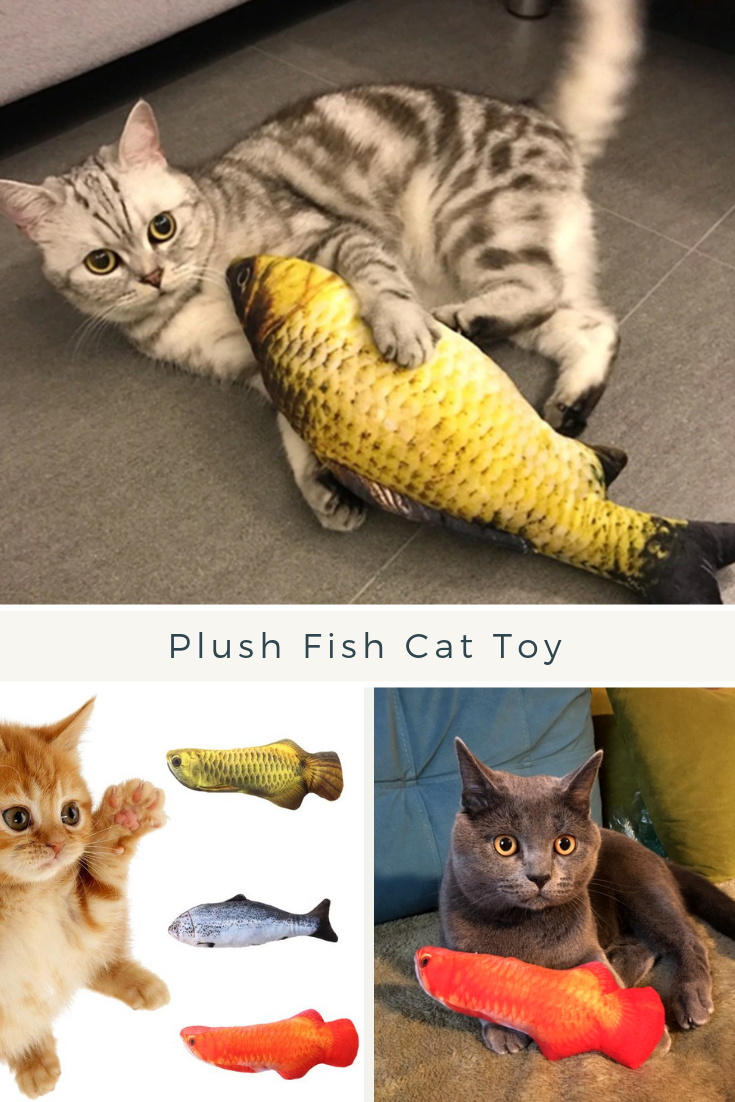 Artificial Plush Fish Cat Puppy Dog Fun Toy Funny Cat Gifts Fish Cat Toy Cats