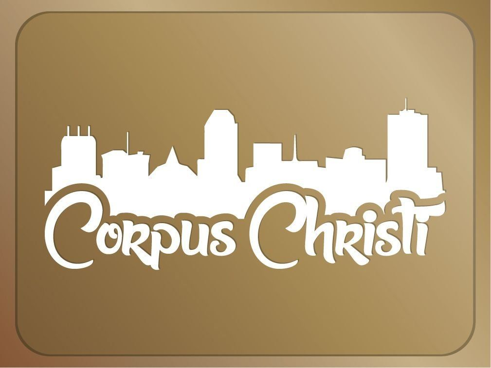 Corpus christi city usa home decal vinyl sticker 14 x 10