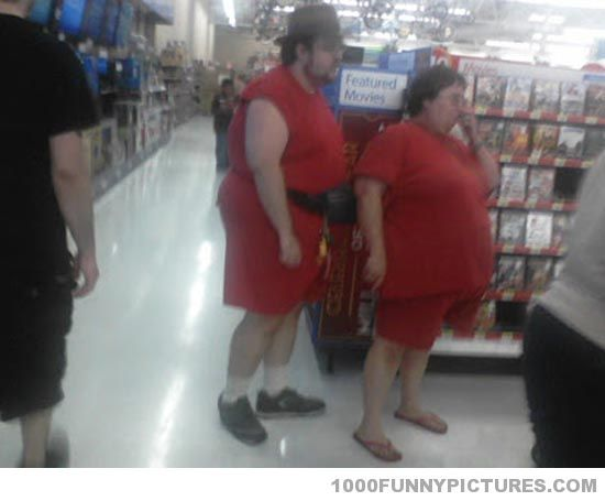 Funny Things  C B People Of Walmart At Least They Can Share Clothes