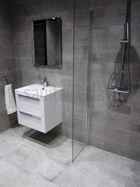 Betonlook badkamer beton vloer betonlook tegels hout wit betonlook idee n betonlook - Tegels badkamer vloer wit zwemwater ...
