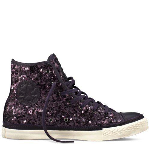 15cbae9c885266 Converse Chuck Taylor Premium Sequins dark purple