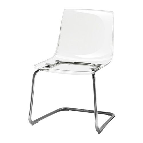 Tobias Chair Clear Chrome Plated Upholstered Chairs Ikea