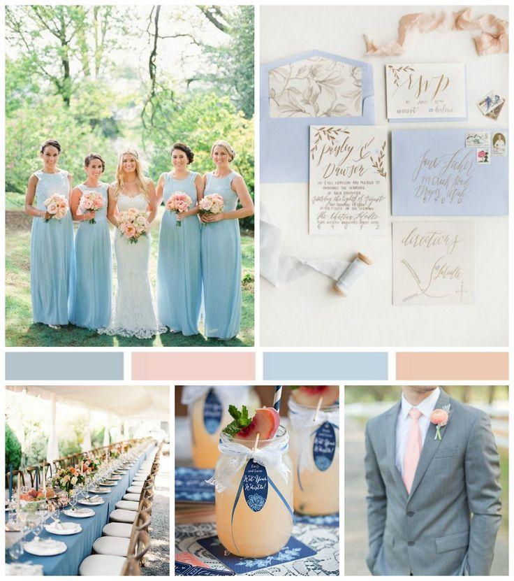 Southern peach wedding palette cornflower peach french blue southern peach wedding palette cornflower peach french blue cantaloupe junglespirit Gallery