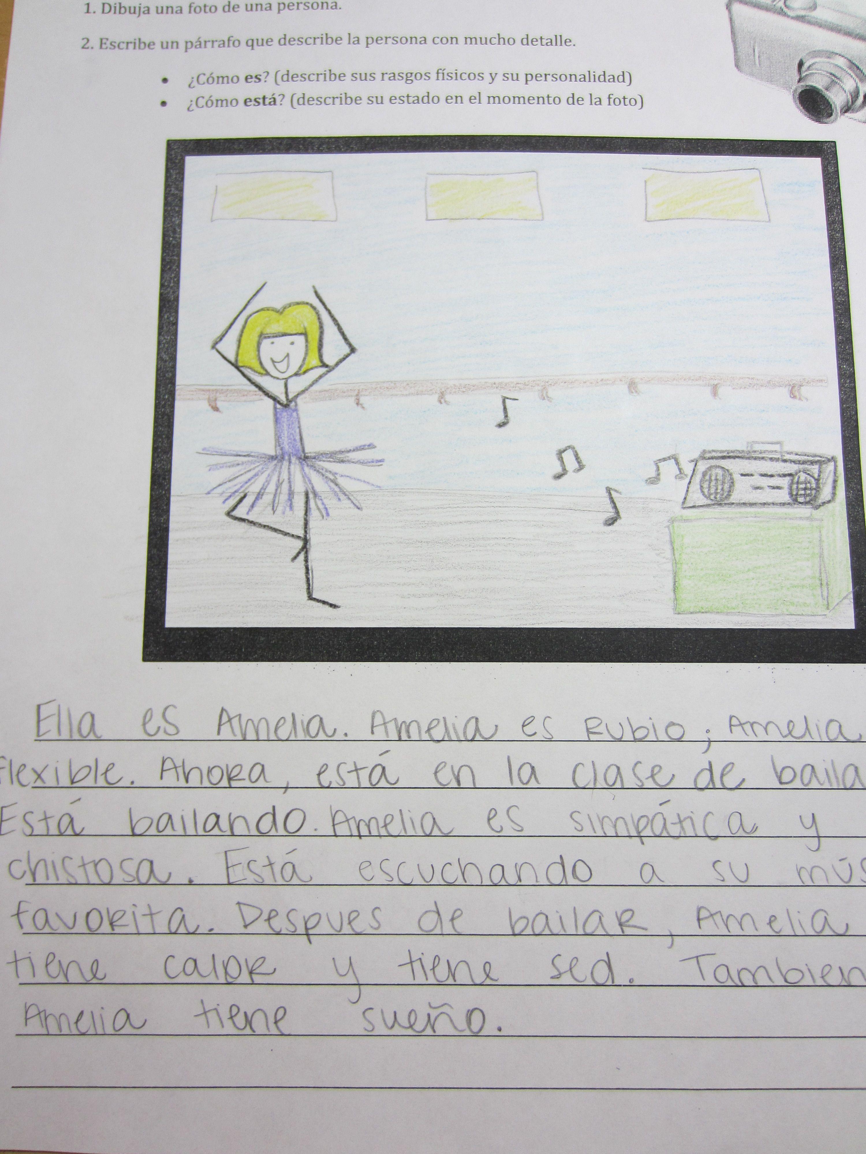 Descripcion De Una Foto A Fun Creative Writing Drawing