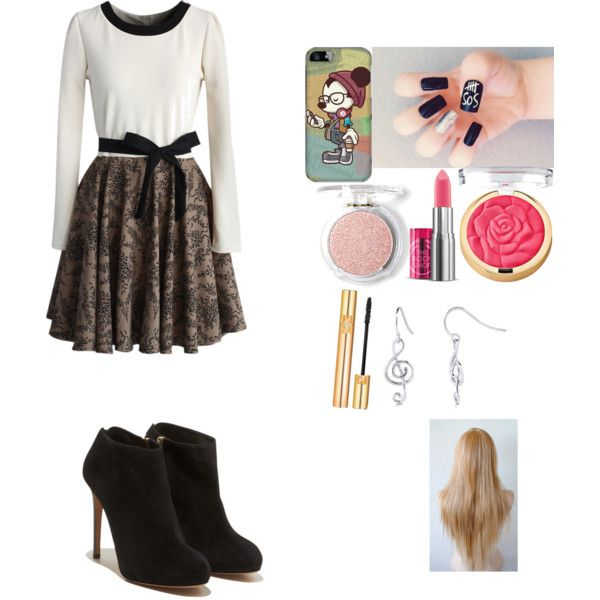 A fashion look from February 2015 featuring Chicwish dresses, Salvatore Ferragamo ankle booties and BERRICLE earrings. Browse and shop related looks.