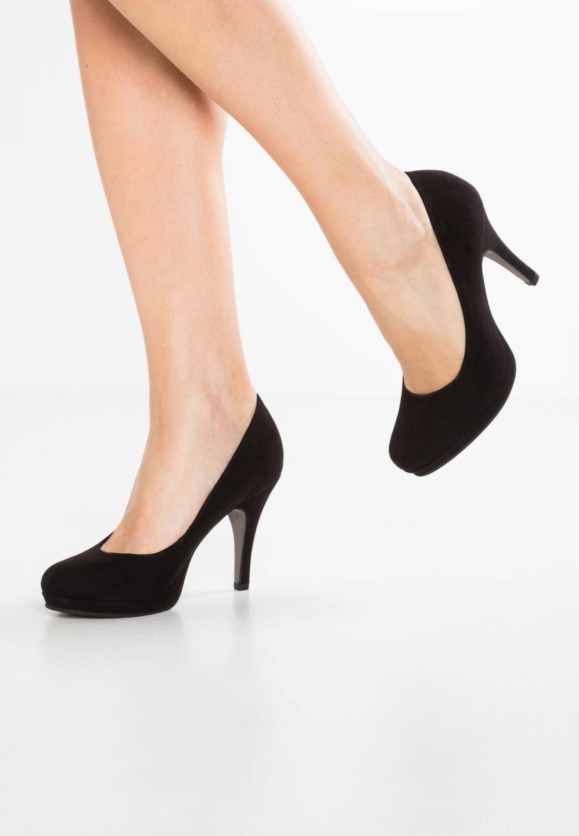 Tamaris. High Heel Pumps black. Sohle:Kunststoff