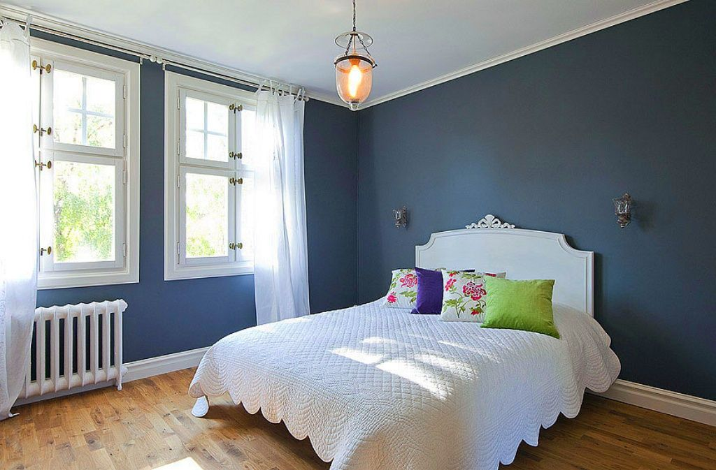 The name of this photograph is Blue And Gray Bedroom Décor