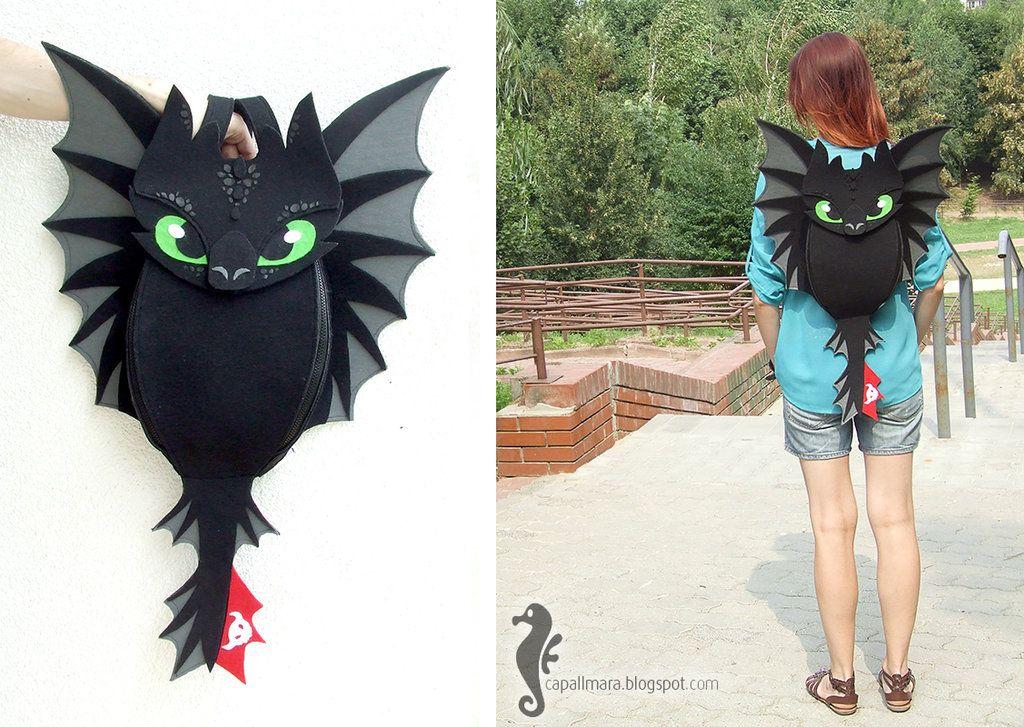 Toothless Backpack by bt-v deviantart com on @deviantART
