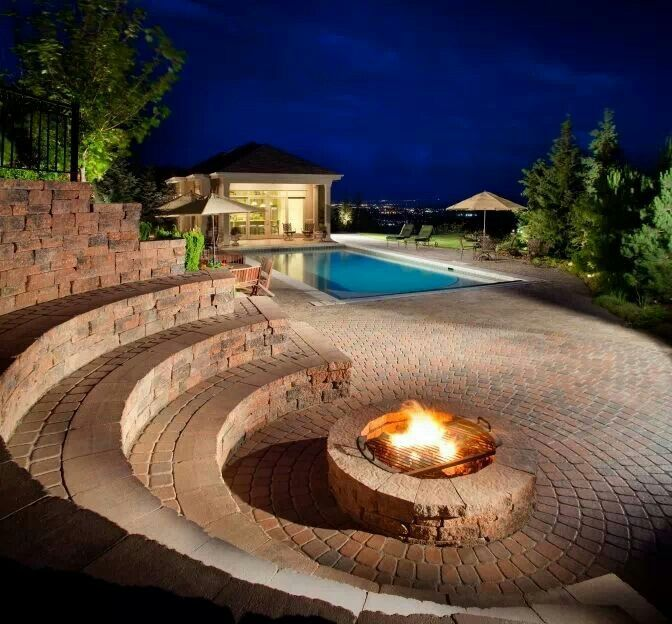 In Ground Firepit: I Really Like The Idea Of Amphitheater Seating