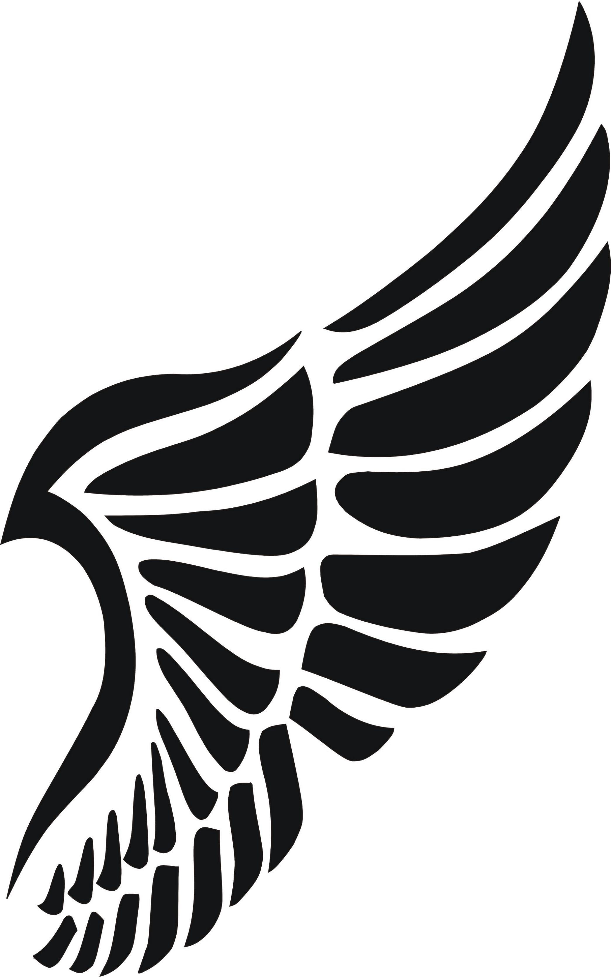 Eigenmarke Stencil Schablone Flügel | Silhouette/stencils ...