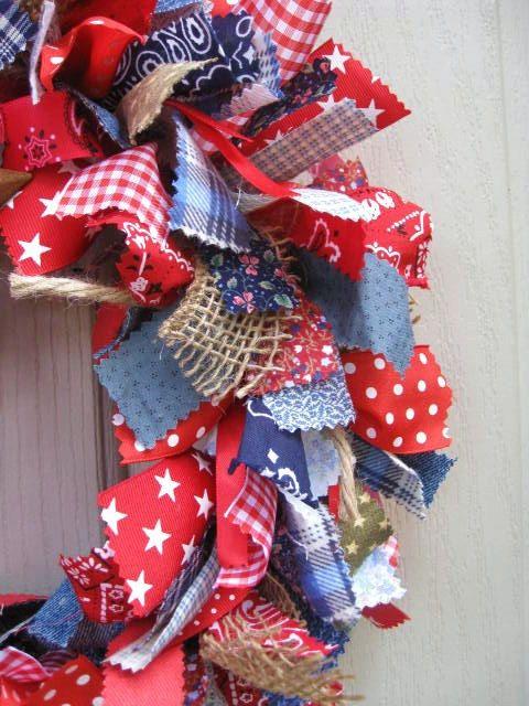 4th Of July Fabric Wreath