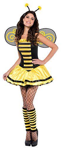 Ladies Women's Bumblebee Adult Costume Bug Insect Hen Night Costume