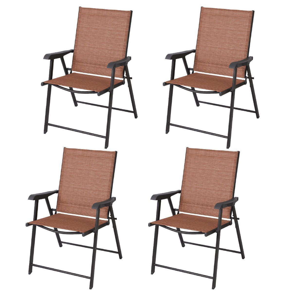 Giantex Outdoor Patio Folding Chairs Furniture