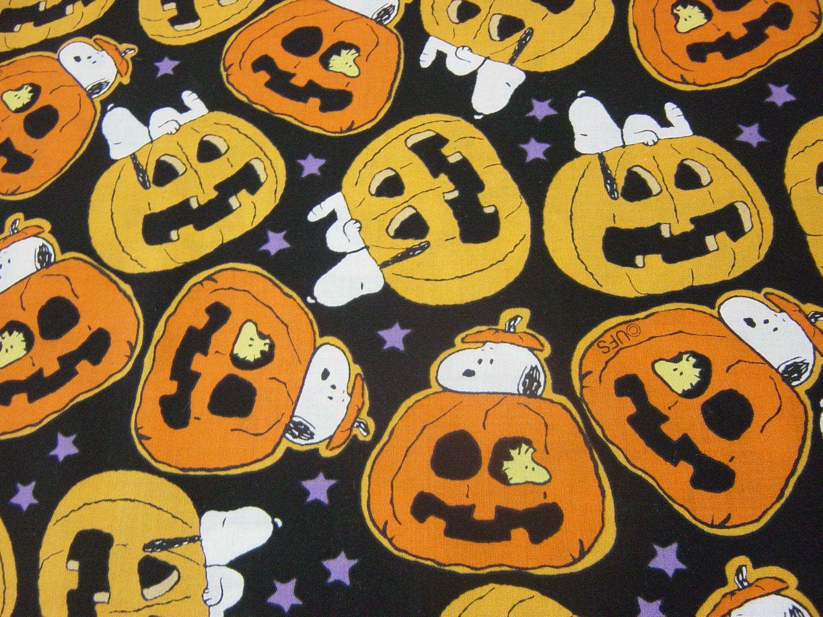 Peanuts Snoopy in Pumpkin Halloween Fabric Fat Quarter 18