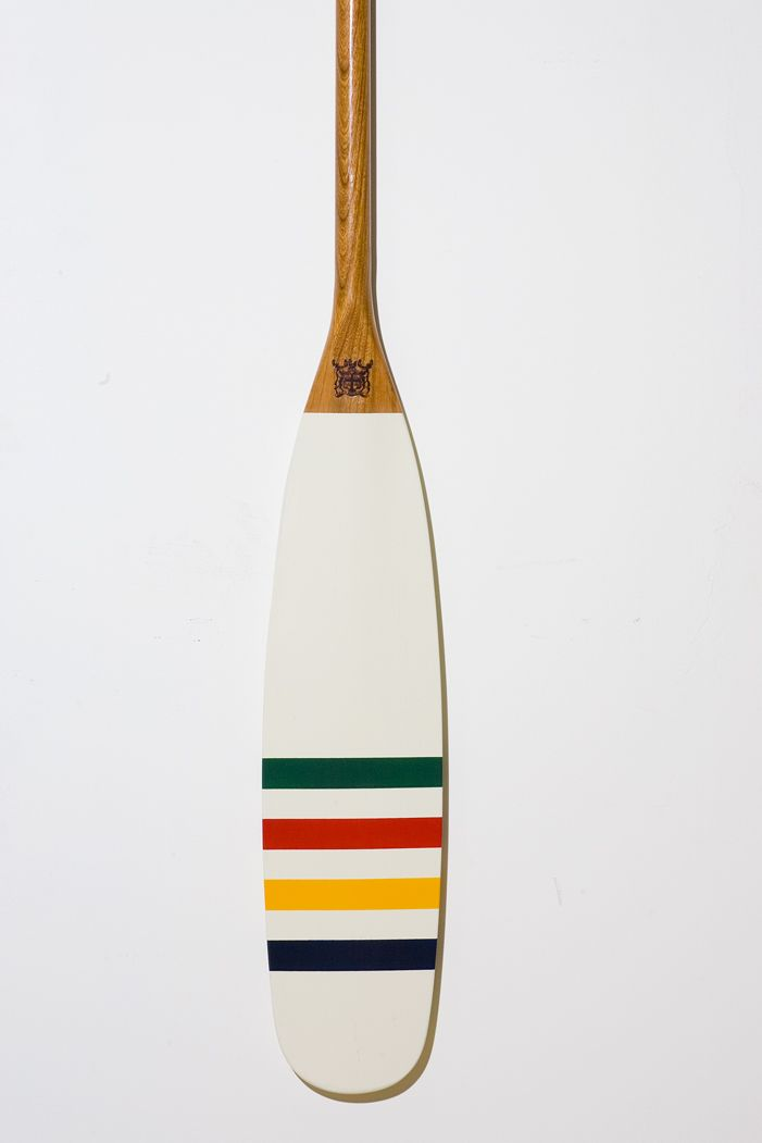 New Contact Voyaging Co Hudson Bay Co Multi Stripe Paddle Painted Oars Paddle Decor Painted Paddles
