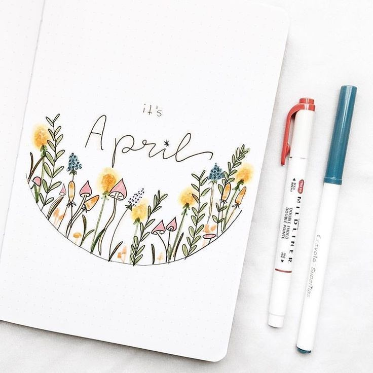 "@monthly_bujo on Instagram: ""April's almost over but this cover needs to be posted"