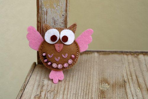 Owlette embroidered felt