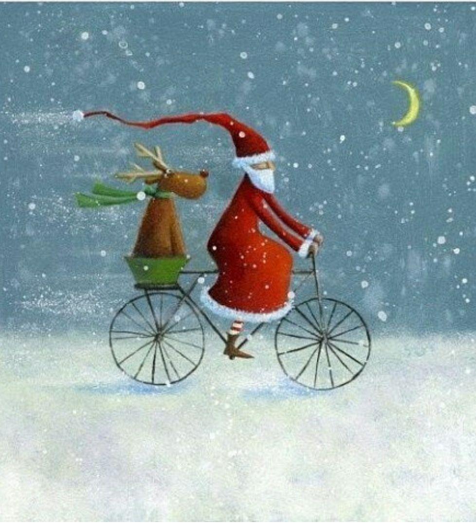 Der Nikolaus ist unterwegs #vintageweihnachtendeko