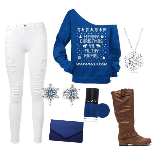 """""""Untitled #1"""" by hannah-kellum ❤ liked on Polyvore featuring Frame Denim, Dorothy Perkins, Pandora, Bling Jewelry and LVX"""