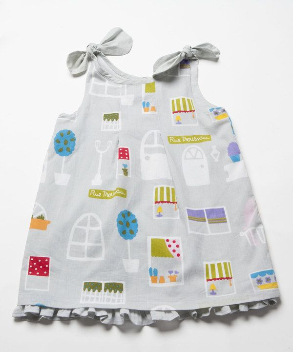 Look at this Gray Troussau Bow Layered Dress - Infant, Toddler & Girls on #zulily today!