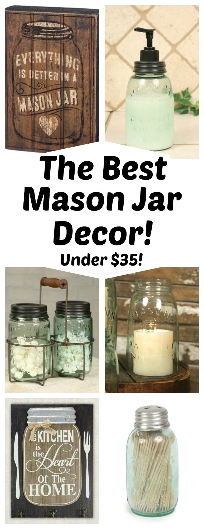 Tons of mason jar home decor perfect for your home