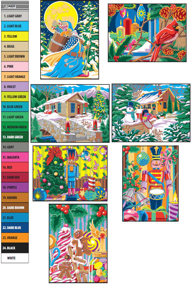 Color Chart For Creative Haven Christmas Color By Number Book Christmas Coloring Pages Dover Coloring Pages Christmas Color By Number