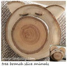 crafts with tree branch slices