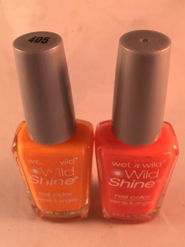 Wet N Wild Wild Shine Nail Color Polish 2 Shades Sunny Side Up & Blazed New  | eBay