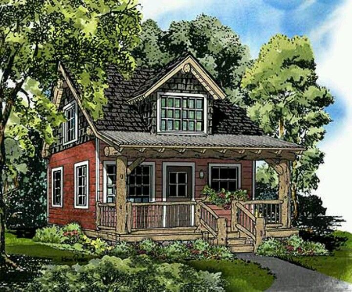 440 sq ft 2 bedroom cottage tiny smaller houses and for Cottage guest house plans