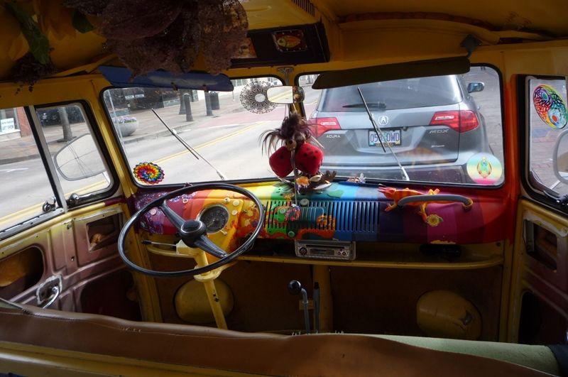 volkswagen van hippie interior. the view forward volkswagen van hippie interior u