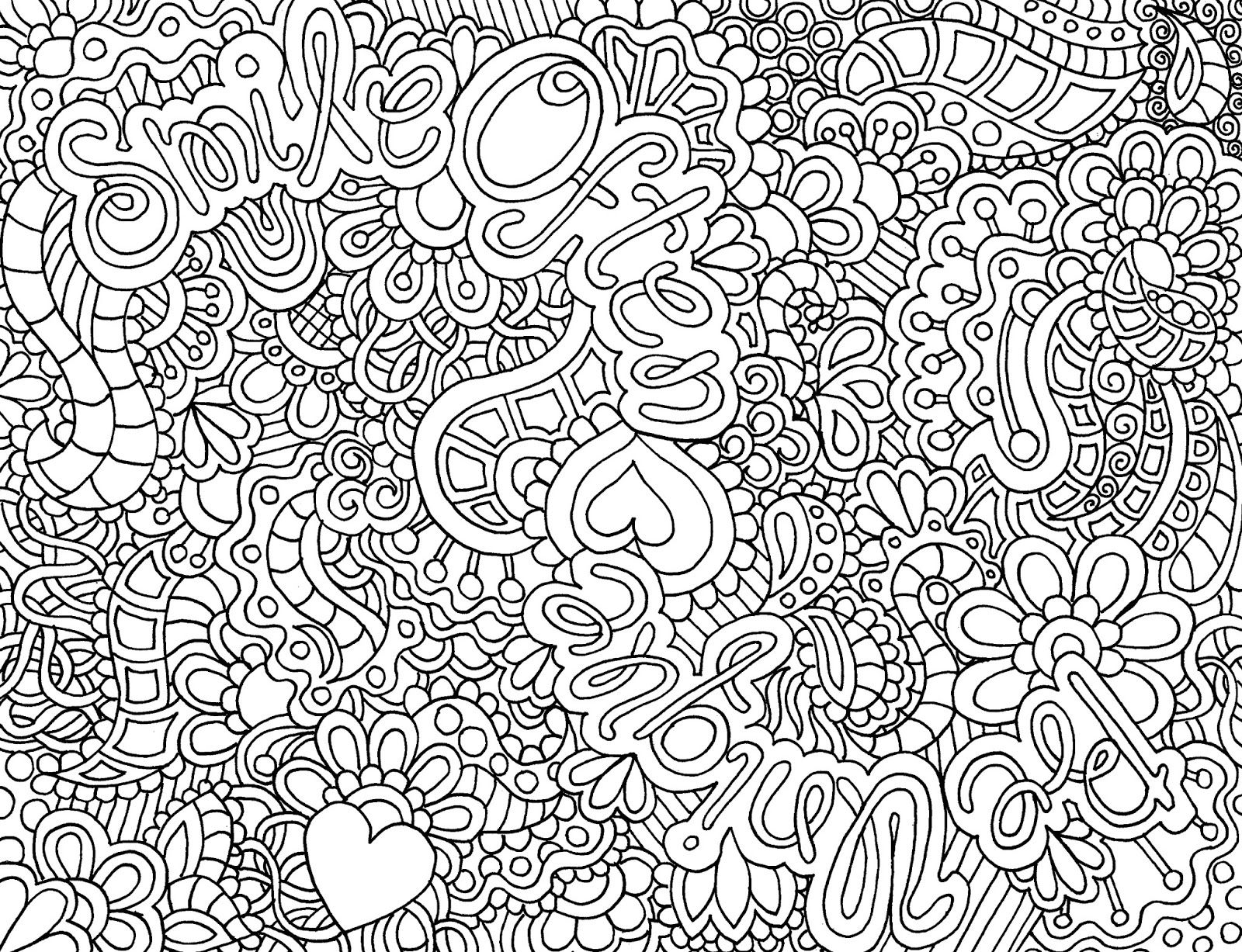 Difficult Abstract Coloring Pages Another Cute Zendoodle That You Can Find In My Coloring Pages For Teenagers Abstract Coloring Pages Detailed Coloring Pages