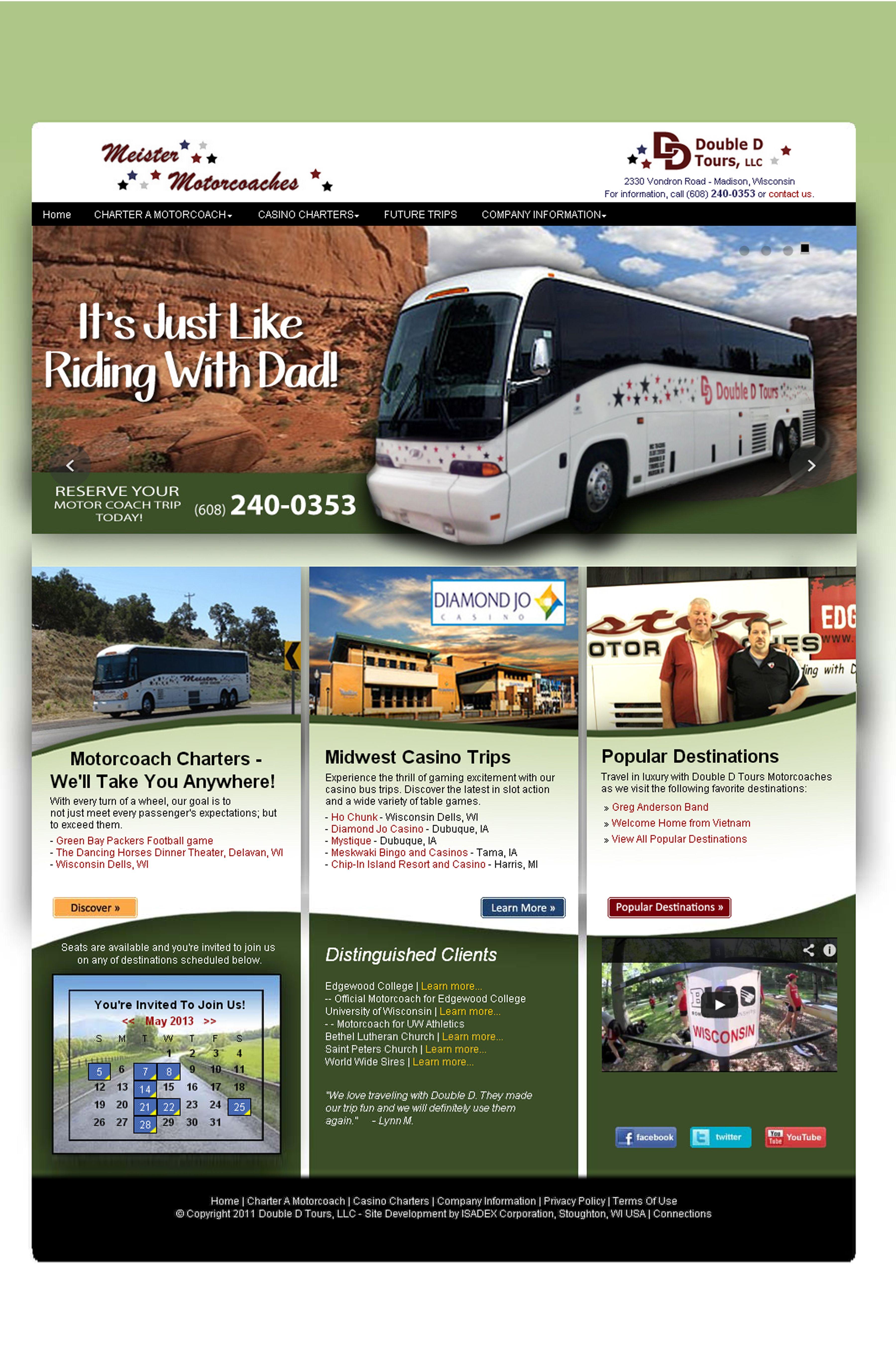 Isadex Web Design Double D Tours Web Design Casino Trips Web