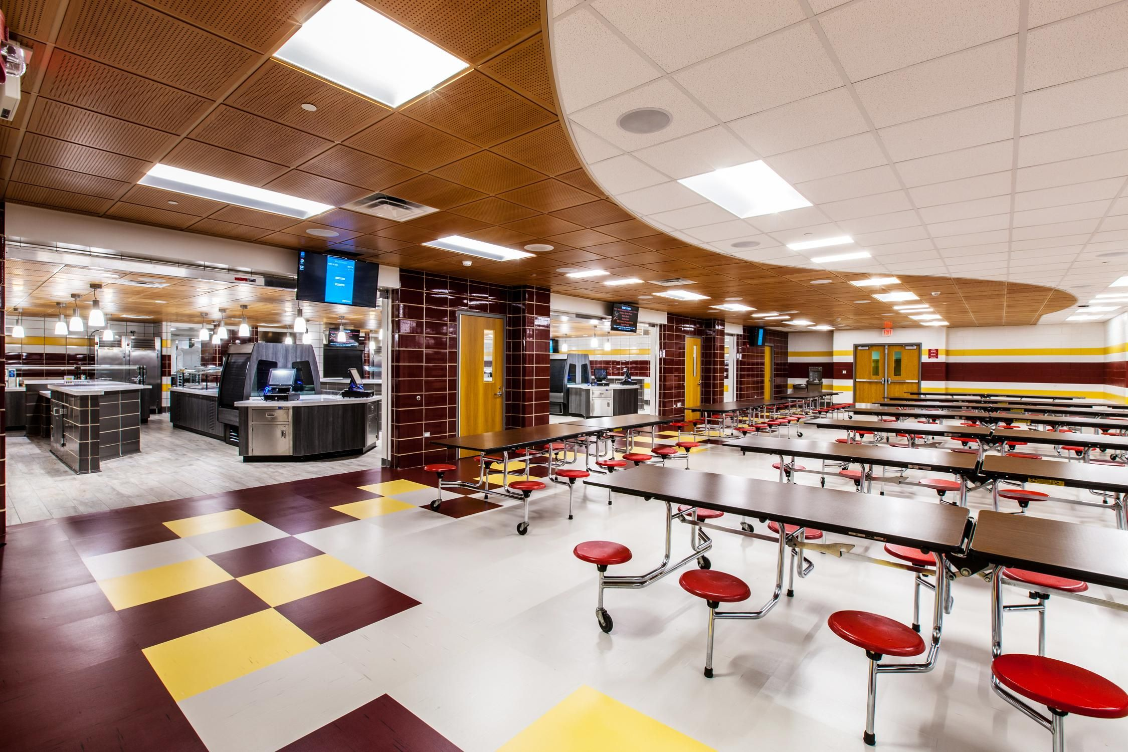 Schaumburg High School Il Rikett Quartz Tile Spartansurfaces Interiordesign