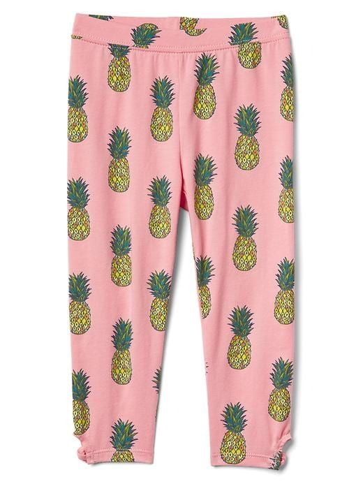 9b5ea597833b4 Gap Baby Keyhole Print Stretch Jersey Capris Pineapple | Products ...