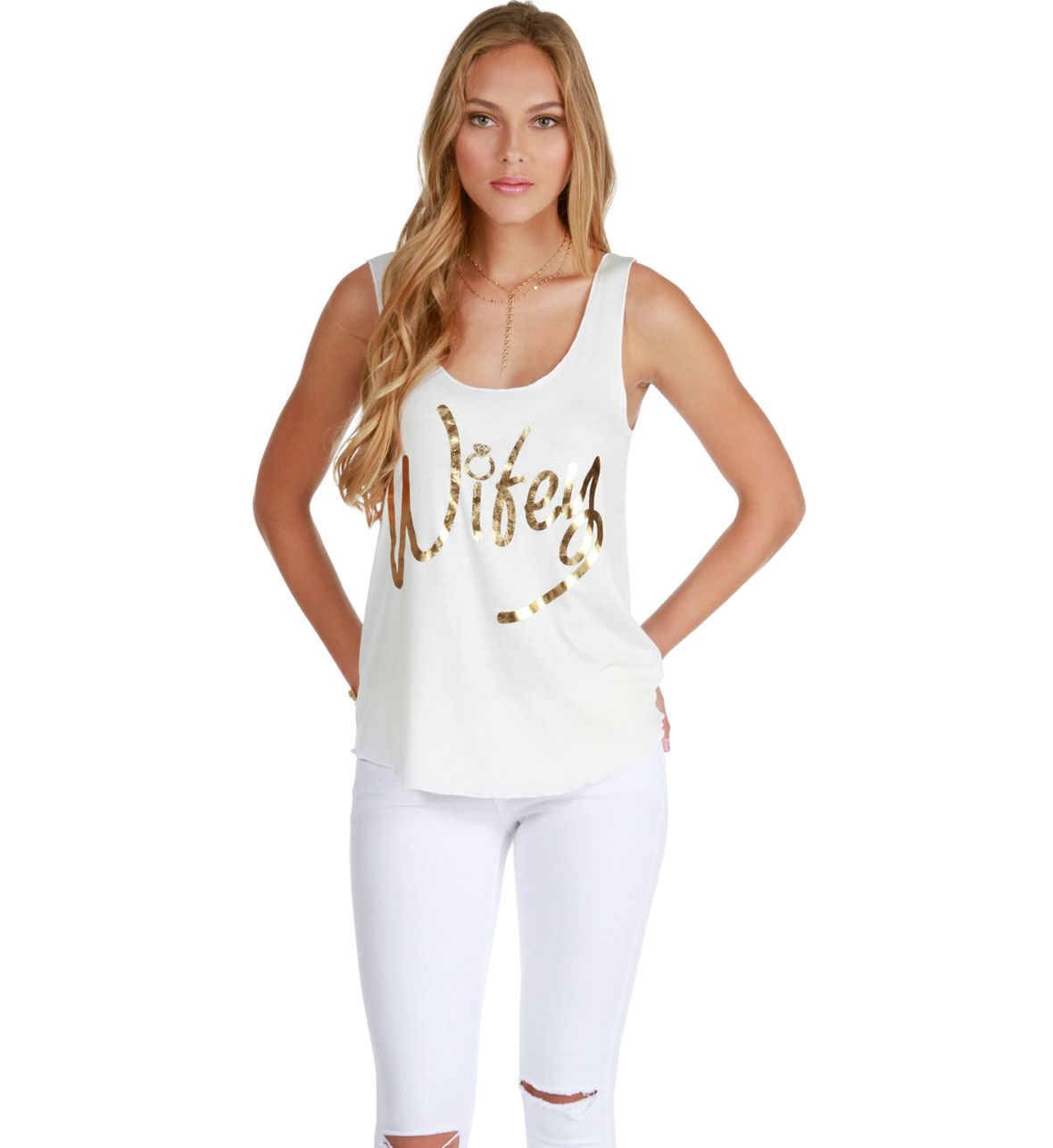 White Wifey Tank Top at WindsorStore
