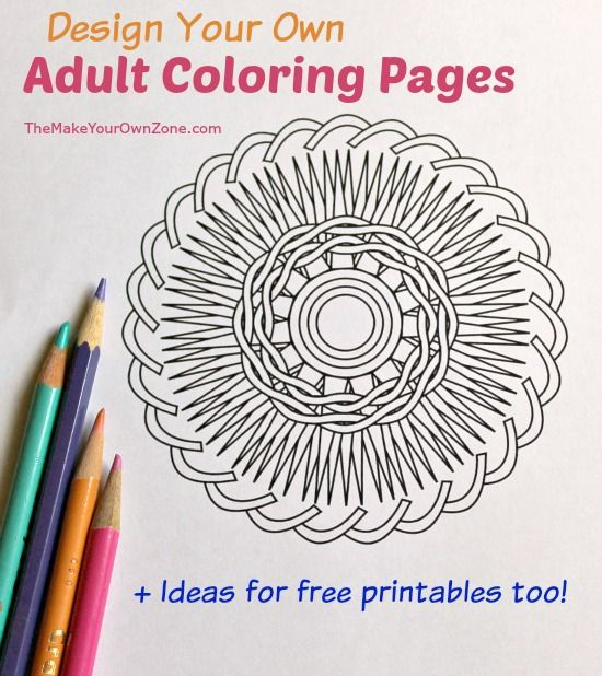 Fancy Print Your Own Coloring Book 24 Design and print