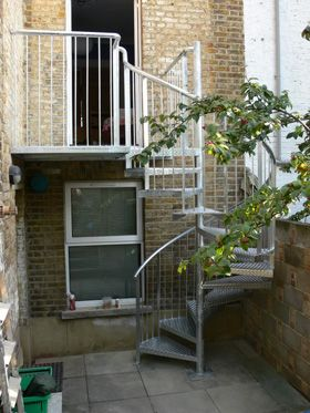 Best Simple Galvanized Steel Spiral Staircase Exterior Stairs 400 x 300